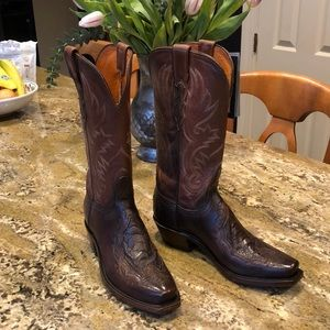 Lucchese Beatrice women's Ostrich boot. Size 7.NWT